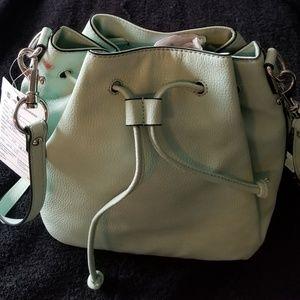 Banana Republic Drawstring Bag Lt Green New